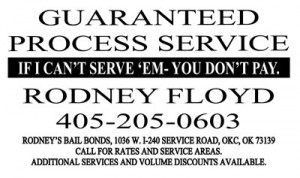Process Service OKC - RODNEY OKC Bail Bonds Process Server in Oklahoma City
