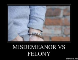 Misdemeanor v Felony in Oklahoma