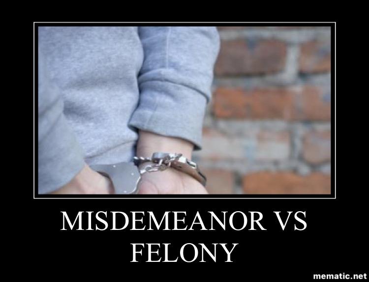 Misdemeanor v Felony in Oklahoma